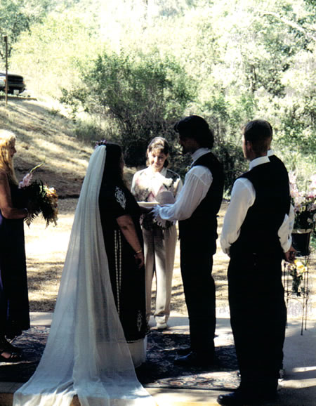 Brown county amphitheater wedding