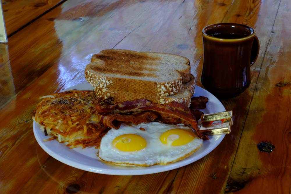 June Bug Cafe Bacon and Eggs