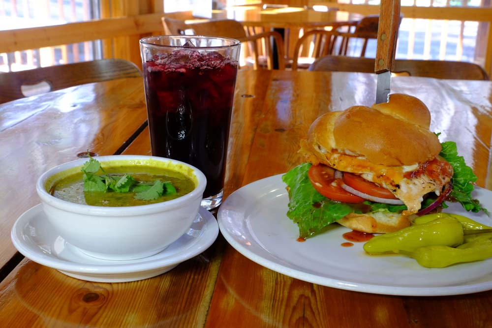 June Bug Cafe Lunch Soup and Sandwich