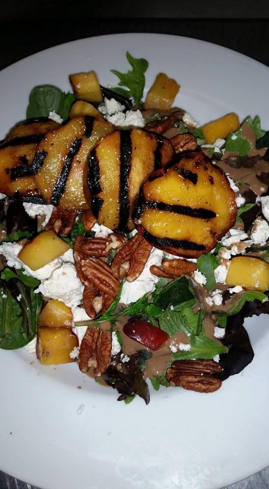 June Bug Cafe peach salad