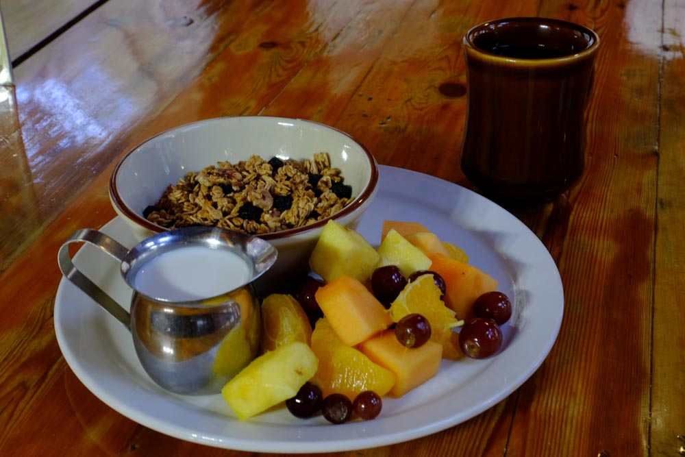 June Bug Cafe Oatmeal and Fruit